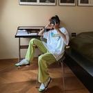 運動褲 女夏季寬鬆韓版ins潮直筒高腰休閒長褲子 【618特惠】
