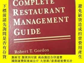 二手書博民逛書店【英文原版】the罕見complete restaurant management guide完整的餐廳管理指南【