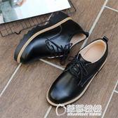 新款英倫風單鞋真皮內增高女鞋中跟厚底加絨小皮鞋鬆糕休閒鞋 草莓妞妞