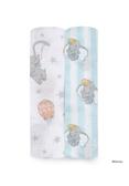 美國 Aden+Anais 迪士尼經典款包巾(2入)-氣球小飛象