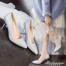 走秀銀色高跟鞋女細跟婚紗照禮服鞋中跟3-5-7cm宴會年會伴娘單鞋 黛尼時尚精品