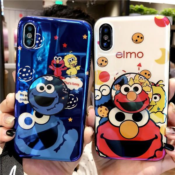【SZ62】藍光芝麻街氣囊支架 OPPO R17手機殼 R9s r9 r11s r15手機殼 r17  pro手機殼