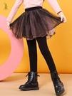女童裙褲 女童褲裙假兩件秋冬外穿加絨洋氣寶寶網紗兒童加厚打底褲裙褲 交換禮物