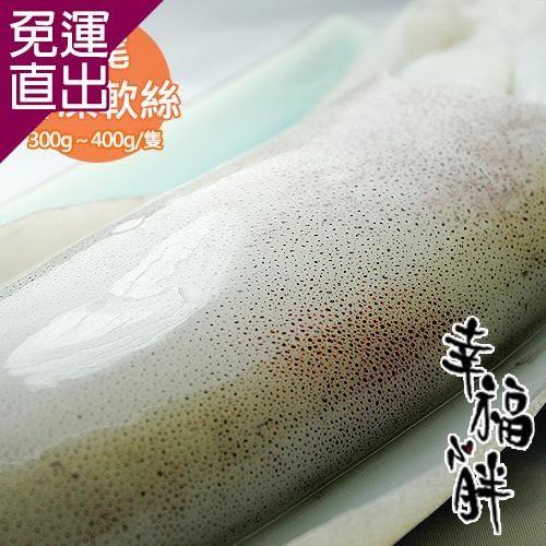 幸福小胖 鮮凍軟絲 2-3人份5隻300g�400g/隻【免運直出】