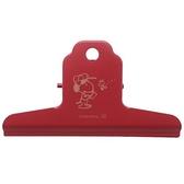 小禮堂 史努比 山型鐵夾 文具夾 大鐵夾 文件鐵夾 (紅 帽子) 4901770-62643