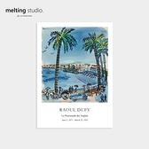 裝飾畫 藝術 掛畫 【G0128】Raoul Dufy 藝術裝飾畫-尼斯的步道(A3) 韓國製 收納專科