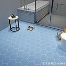 衛生間浴室地板貼紙防水防滑加厚耐磨地貼裝飾廚房地面廁所洗手間NMS【美眉新品】