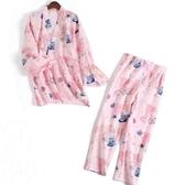 睡衣女春夏長袖長褲日式和服月子服孕婦產後喂奶衣哺乳衣薄款甜美