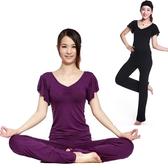 瑜珈服 服套裝春夏大碼舞蹈服瑜珈服運動服健身服形體服女套裝