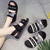 2018夏季新款中跟平跟厚底鬆糕鞋韓版女蝴蝶結軟底女涼鞋 LR412【歐爸生活館】