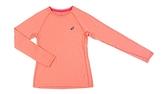 [陽光樂活]ASICS亞瑟士 服飾運動上衣 / 女慢跑長袖T恤 135361-6028 粉橘