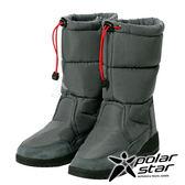 【PolarStar】女保暖雪鞋『灰』P17632 (冰爪 / 內厚鋪毛 /防滑鞋底) 雪地靴.雪鞋.賞雪.滑雪.雪地必備