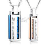 情侶對鍊 西德鋼項鍊「愛情俘虜」藍玫款 單個價格*情人節禮推薦