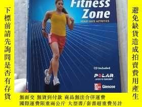 二手書博民逛書店Fitness罕見Zone HEART RATE ACTIVITIES 大16開【含光盤一張 內頁幹凈】Y10