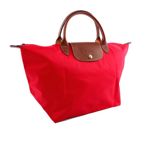 【LONGCHAMP】M號短把 摺疊水餃包 3D系列(深莓紅) 1623 089 270