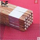 廚房幫手@實木筷雞翅木筷子無漆無臘筷送禮禮盒10雙裝用品用具木質餐具(銀色福字10對禮盒裝)