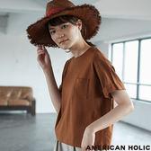 ❖ Summer ❖ 袖口反折口袋圓領上衣 - AMERICAN HOLIC