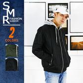 外套-可拆帽反光鍊外套-街潮穿搭百搭款《004KR8809》綠色.黑色【現貨+預購】『SMR』