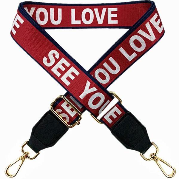 包包肩帶配件包帶加寬字母簡約百搭斜挎個性單後背織帶可調節定制  快速出貨