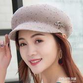 韓版時尚百搭媽媽鴨舌貝雷帽遮陽防曬透氣薄款八角帽  朵拉朵衣櫥