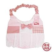 【日本製】【anano cafe】日本製 嬰幼兒小公主圍兜兜 淡粉紅色 SD-2902 - 日本製