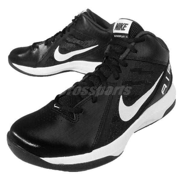 Nike 籃球鞋 The Air Overplay IX 9代 基本款 黑白 球鞋 氣墊 男鞋【PUMP306】 831572-001 831572-001