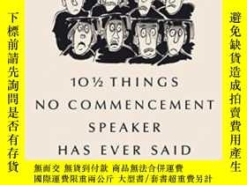 二手書博民逛書店101 2罕見Things No Commencement Speaker Has Ever SaidY255
