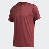 Adidas FreeLift男款紅色排汗短袖上衣-NO.GC8406