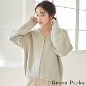 「Winter」2WAY珍珠鈕扣圓領開襟罩衫 - Green Parks