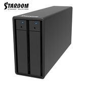 STARDOM ST2-TB3-B 3.5吋硬碟 Thunderbolt3 2bay 磁碟陣列硬碟外接盒