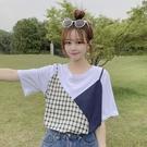"""ZUCA""""S - 學生時尚設計感假兩件短袖T恤 - T-3406"""