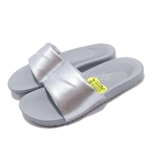 Nike 拖鞋 Kawa Slide GS PS 灰 銀 舒適鞋底 基本款 女鞋 大童鞋【PUMP306】 819352-007