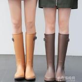 MAIYU 輕量簡約時尚雨鞋女成人雨靴高筒水靴防滑膠鞋女士水鞋『交換禮物』