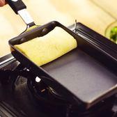 雙十一狂歡購 出口本 迷你玉子燒鍋 復合鋼加厚底不粘鍋 一人份 9x18cm