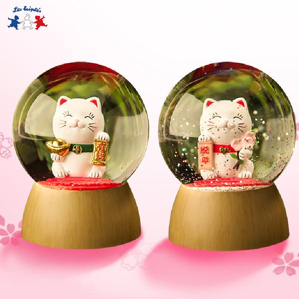招財貓&脫單貓水晶球夜燈