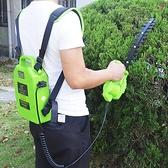 割草機 電動無刷綠籬機充電式小型雙刃直刀弧形彎刀球樹茶葉修剪機【快速出貨八折搶購】