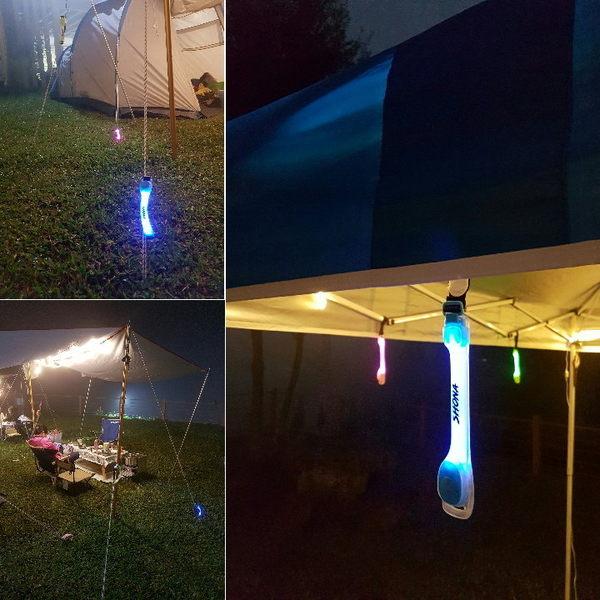 SHONA led燈扣 露營 營繩燈 營釘燈 帳篷燈 天幕燈 繩扣燈 警示燈 安全燈 閃閃燈 自行車閃燈