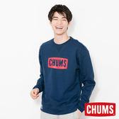 CHUMS 日本 男 LOGO 圓領套頭衫 深藍 CH001086N001