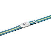 【Go Travel】TSA鎖 撞色行李綁帶-藍綠+黃  indulgence 寵愛自己