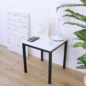 【頂堅】木製椅面(鋼管腳)餐椅/工作椅/洽談椅/會客椅-四色可選白色