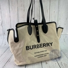 BRAND楓月 BURBERRY 博柏利 8010341 字母托特包 肩背包 側背包 斜背包 帆布包身 帆布包 皮背帶