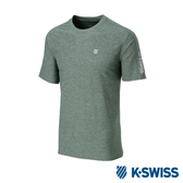 K-SWISS PF RE Melange Tee排汗T恤-男-綠