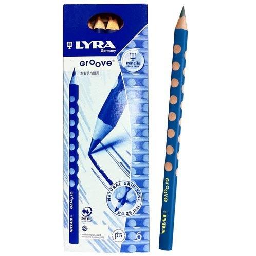 【德國 LYRA】5002290  Groove三角洞洞鉛筆 粗款 6入/盒