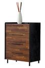 【森可家居】畢卡索雙色四斗櫃7JF026-1 衣物收納櫃 工業風
