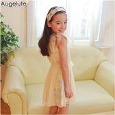 Augelute 女童 無袖披肩式連衣裙 42160