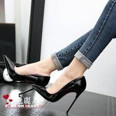 歐美女鞋性感尖頭細跟超高跟淺口12cm婚鞋單鞋  全店88折特惠