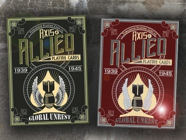 【USPCC 撲克】撲克-Global Unrest AXIS&Allied Playing cards 紅/軍綠