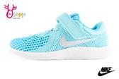 NIKE小童運動鞋 Revolution 4 (TDV) 魔鬼氈 透氣寶寶鞋O7056#水藍◆OSOME奧森鞋業