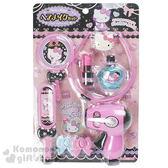 〔小禮堂嬰幼館〕Hello Kitty 夢幻寶石梳妝組玩具《粉黑.髮箍》適合3歲以上孩童 4902923-14360