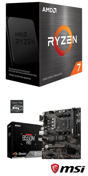 【自組DIY兩件組R58】AMD R7 5800X+微星 B550M PRO